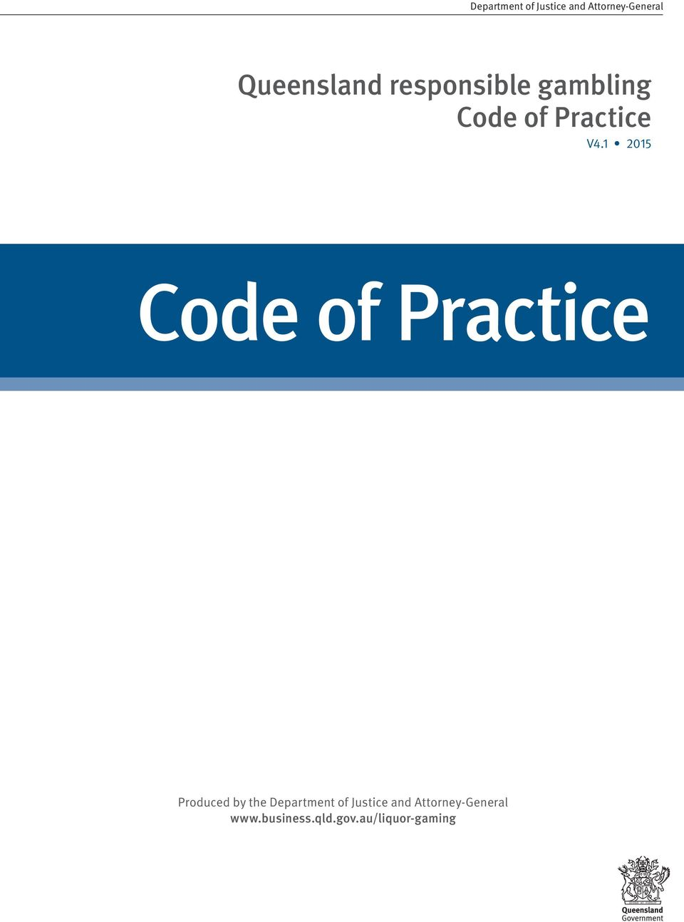 1 2015 Code of Practice Produced by the Department of