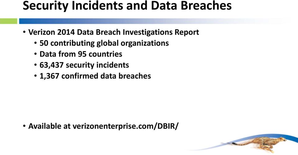 organizations Data from 95 countries 63,437 security