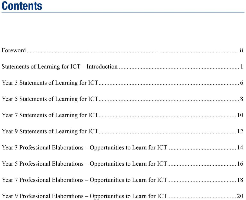 ..12 Year 3 Professional Elaborations Opportunities to Learn for ICT.