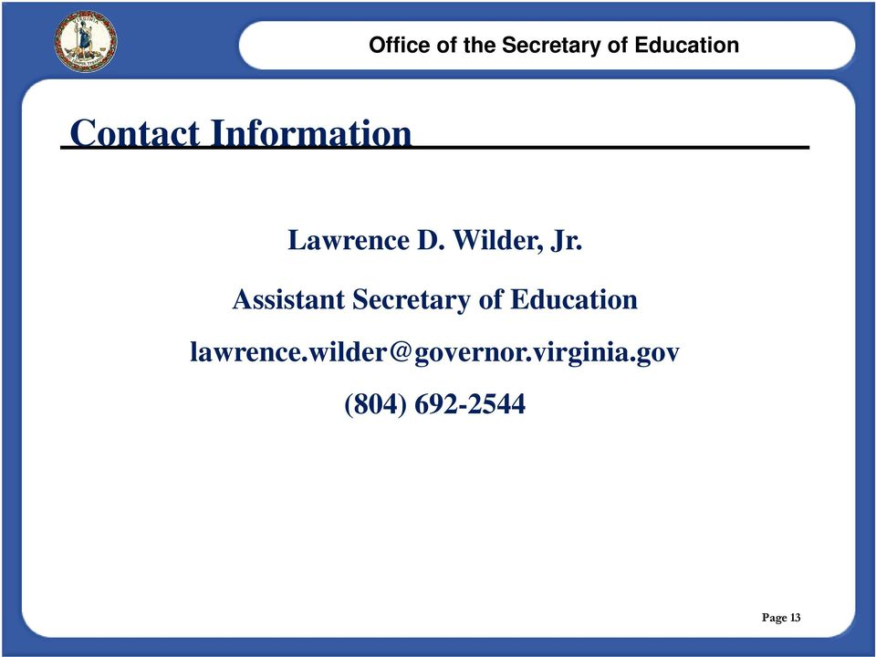 Assistant Secretary of Education