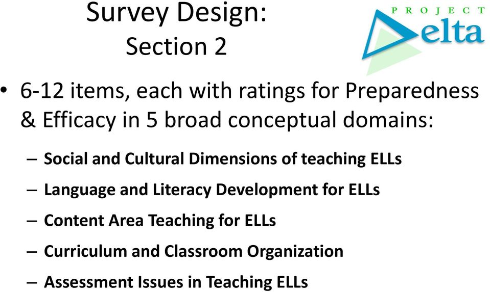 teaching ELLs Language and Literacy Development for ELLs Content Area