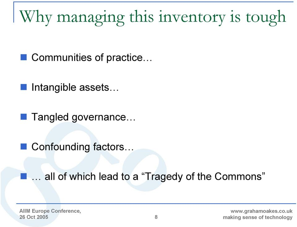 Tangled governance Confounding factors