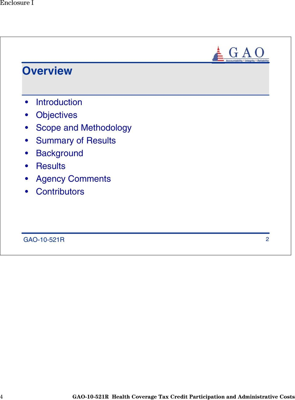 Methodology Summary of Results