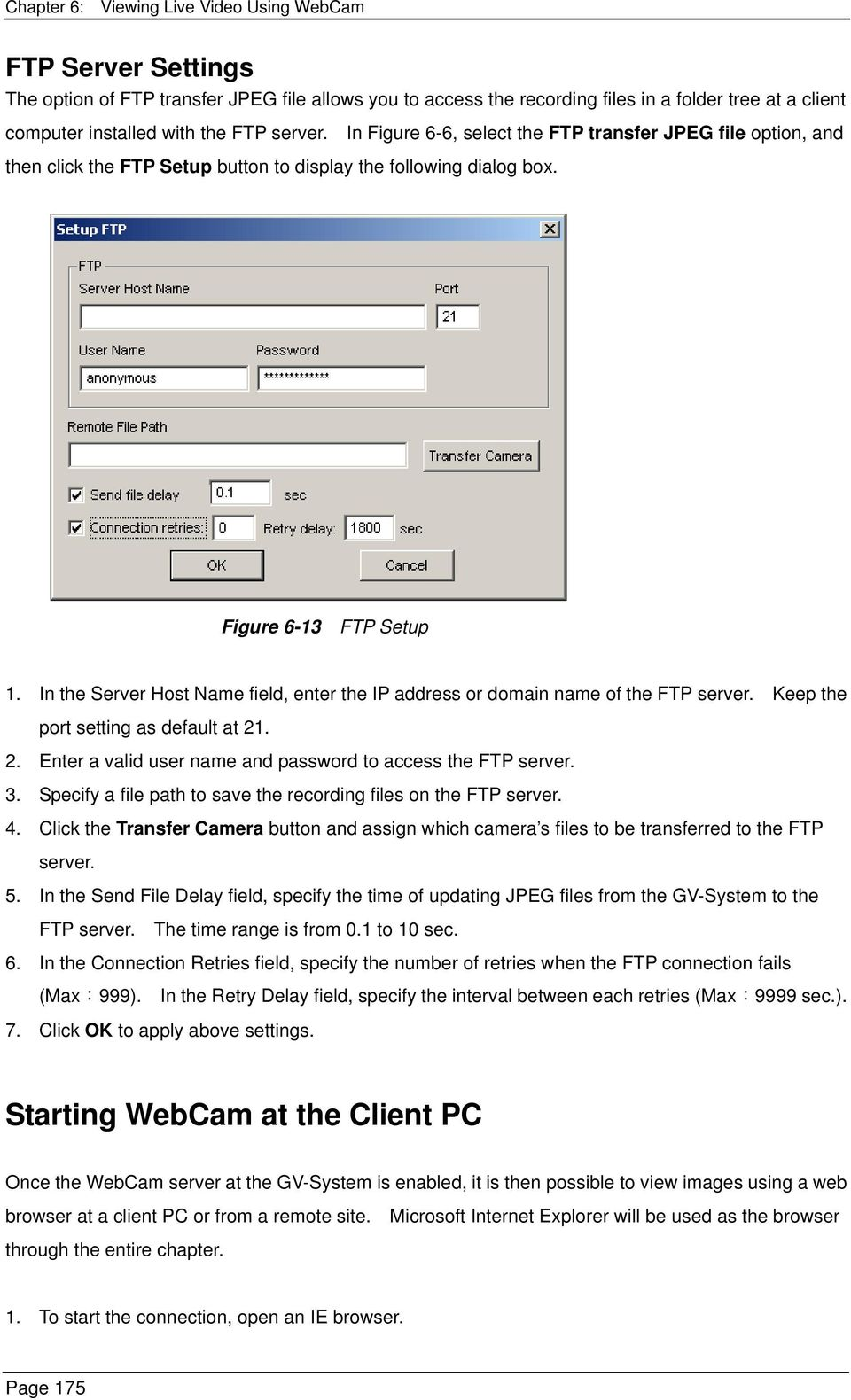 Viewing Live Video Using WebCam - PDF