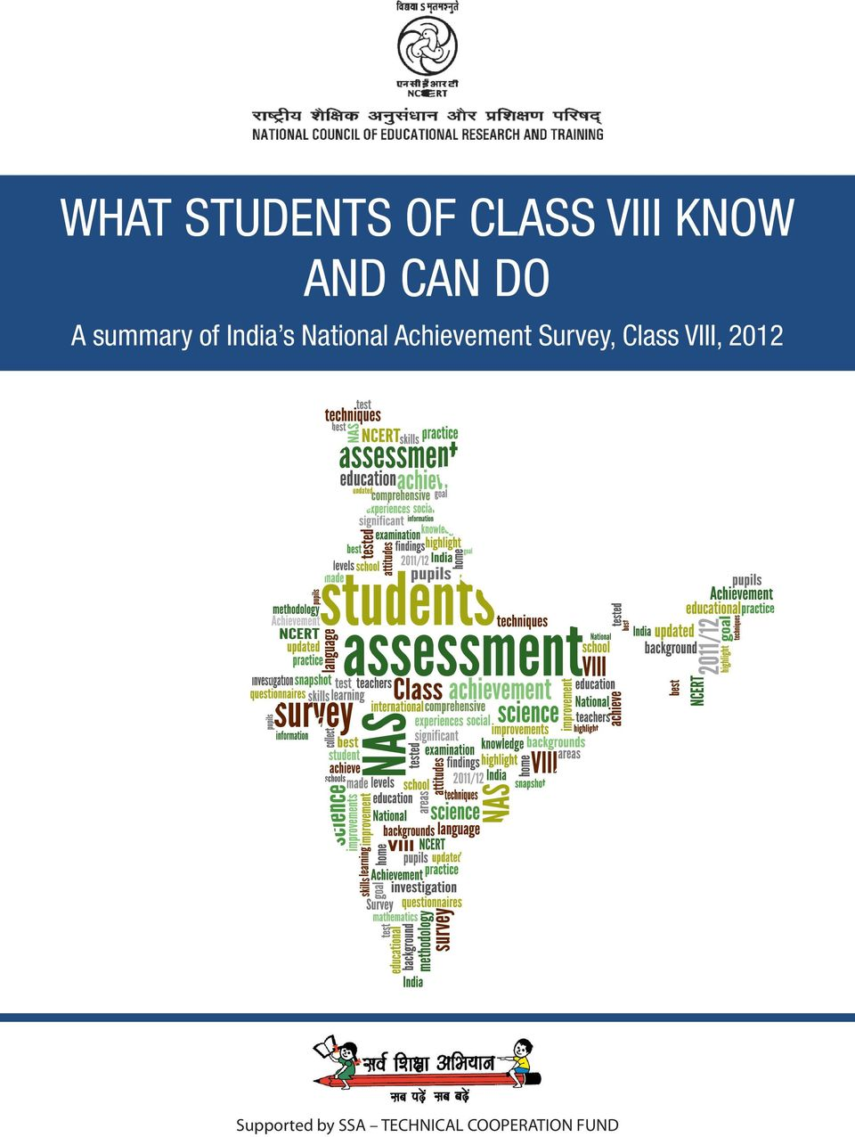 Achievement Survey, Class VIII, 2012