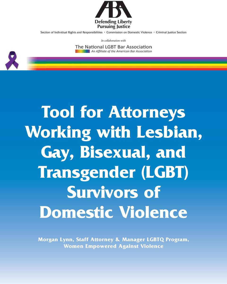 Working with Lesbian, Gay, Bisexual, and Transgender (LGBT) Survivors of