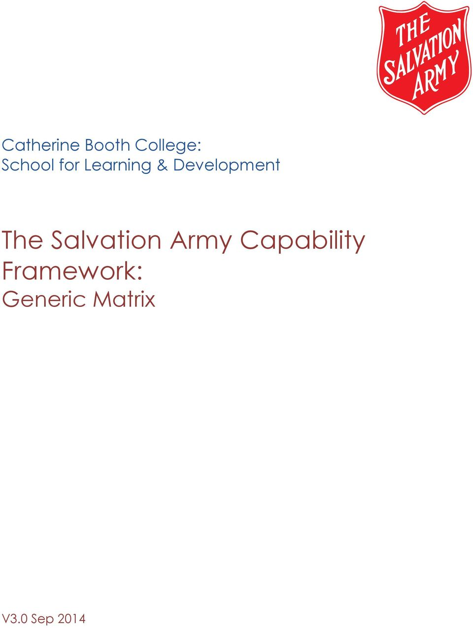Salvation Army Capability