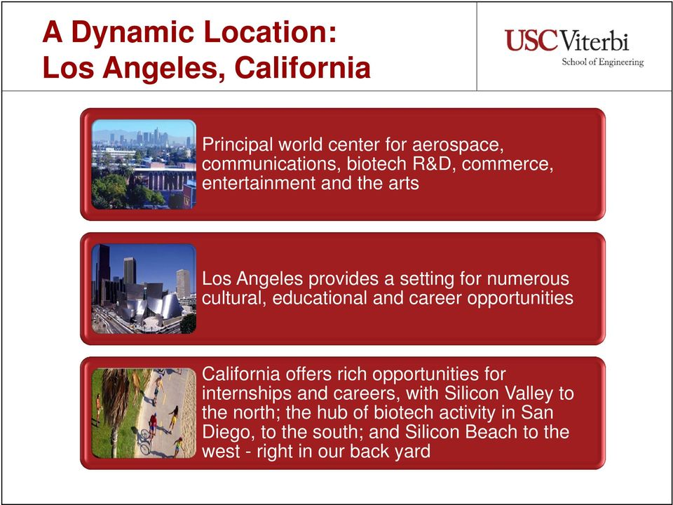 career opportunities California offers rich opportunities for internships and careers, with Silicon Valley to