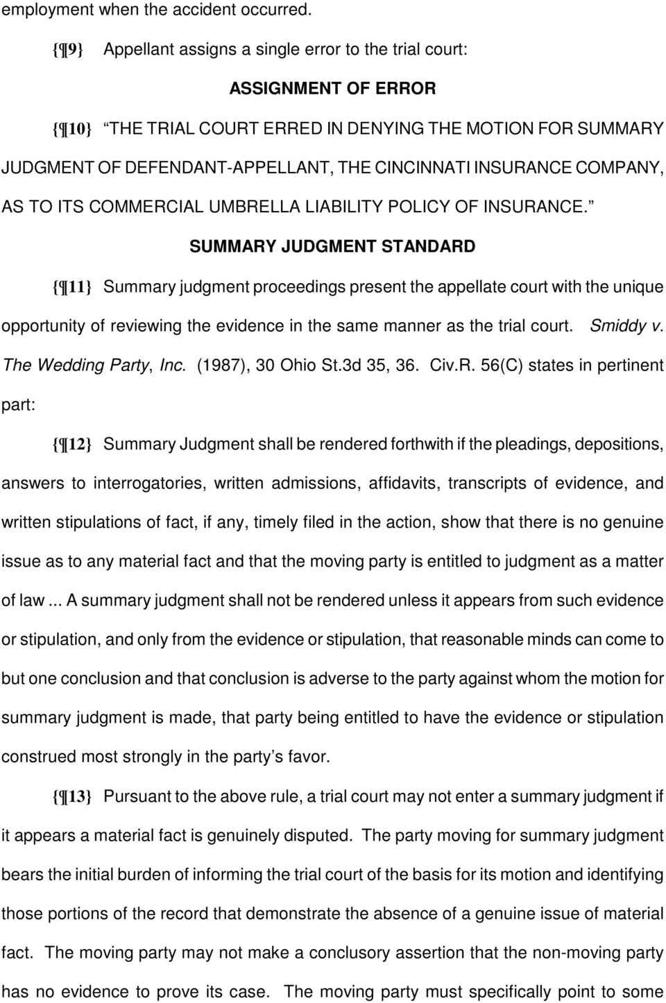 COMPANY, AS TO ITS COMMERCIAL UMBRELLA LIABILITY POLICY OF INSURANCE.