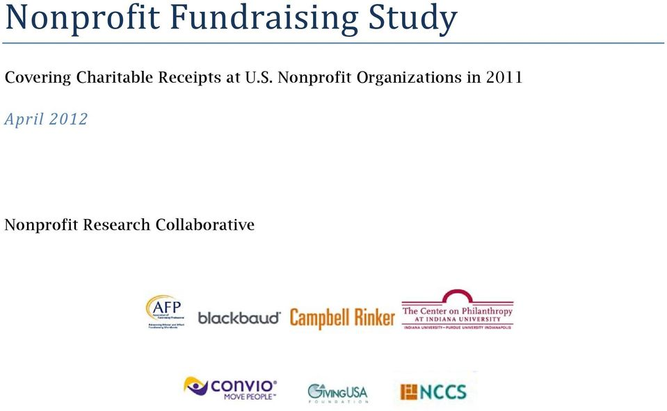 S. Nonprofit Organizations in 2011