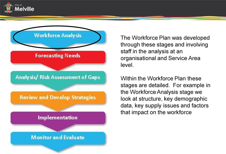 Within the Workforce Plan these stages are detailed.