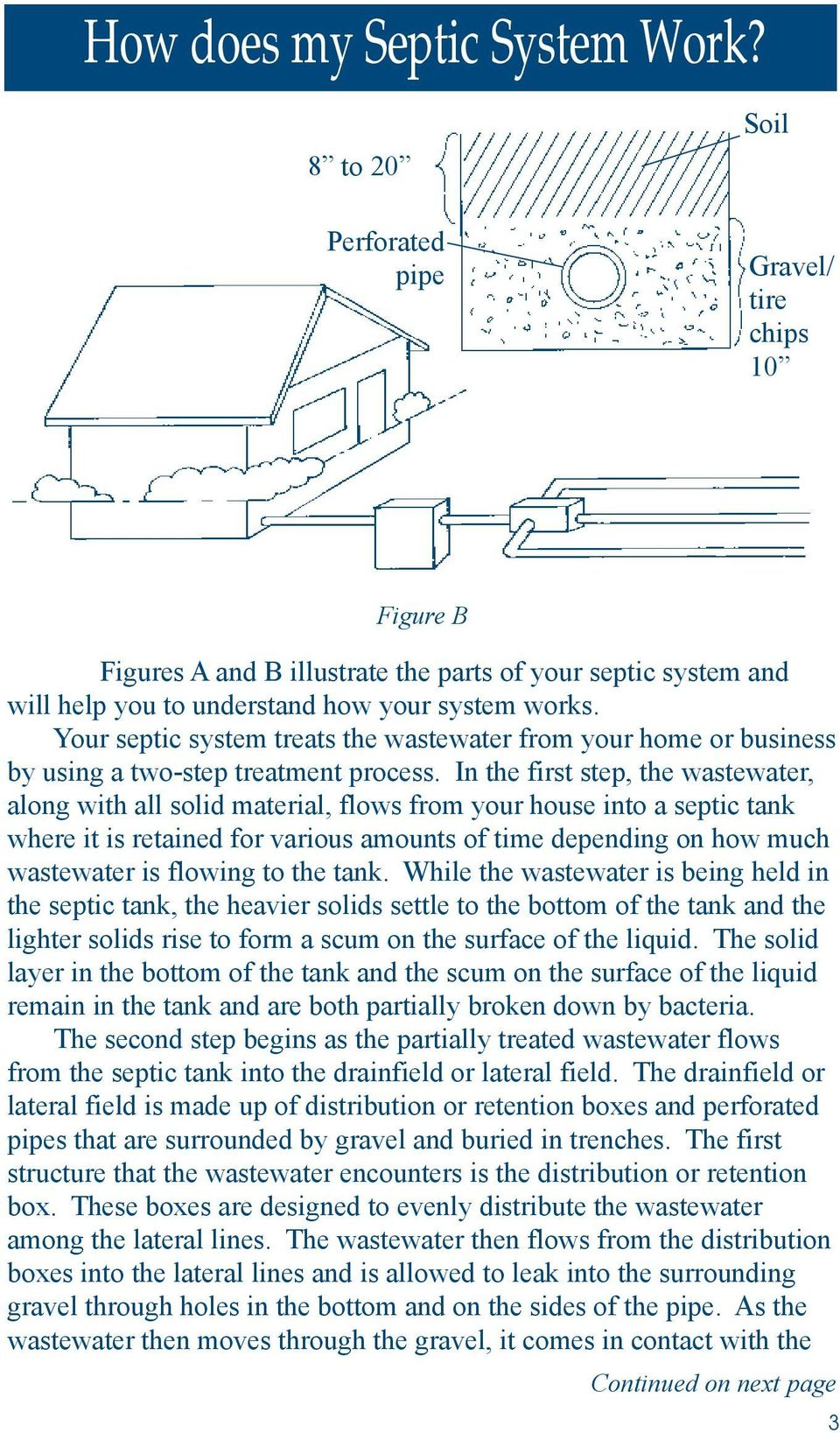 Your septic system treats the wastewater from your home or business by using a two-step treatment process.