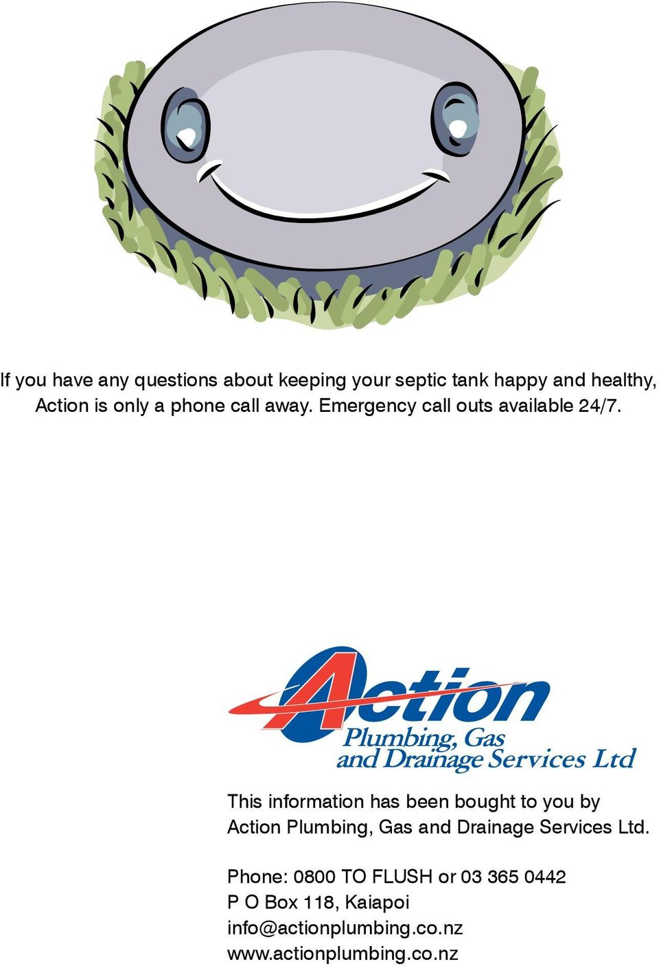 This information has been bought to you by Action Plumbing, Gas and Drainage Services Ltd.