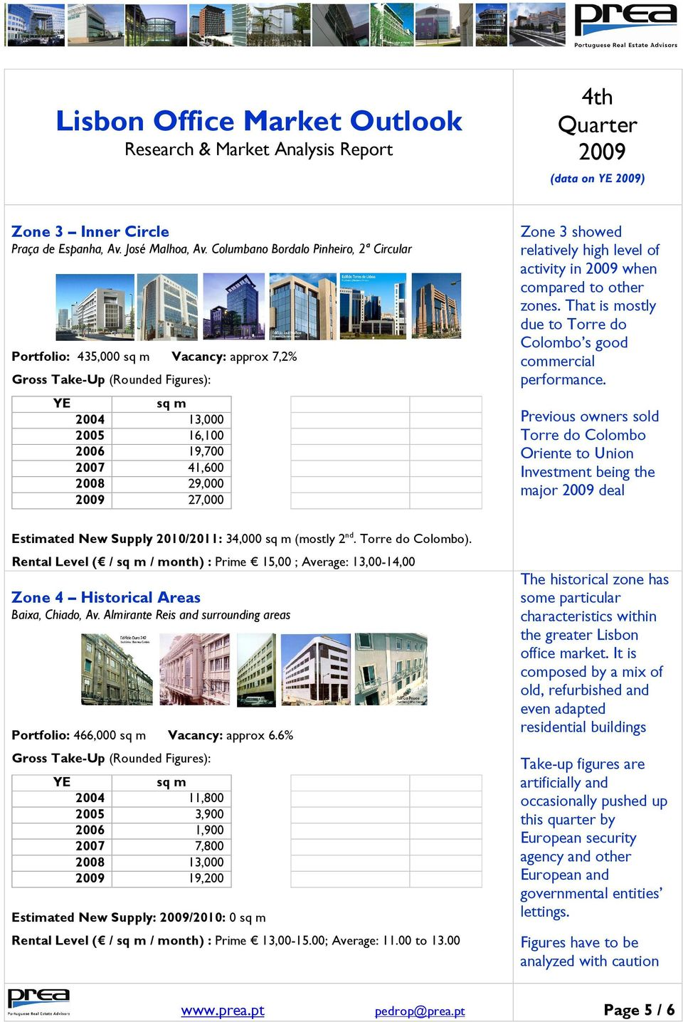 when compared to other zones. That is mostly due to Torre do Colombo s good commercial performance.
