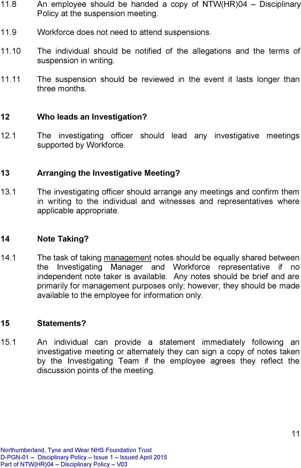 13 Arranging the Investigative Meeting? 13.