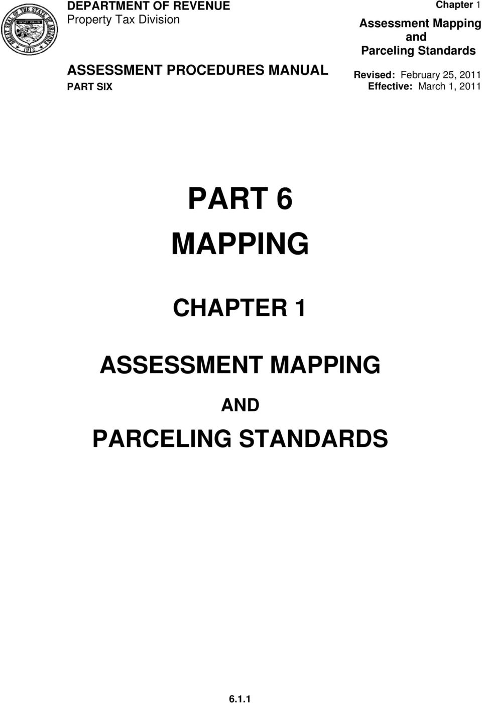 ASSESSMENT MAPPING AND