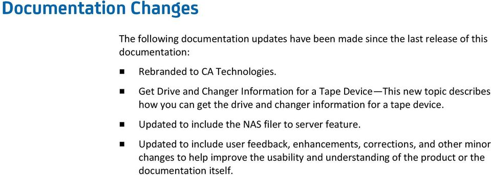 Get Drive and Changer Information for a Tape Device This new topic describes how you can get the drive and changer information for
