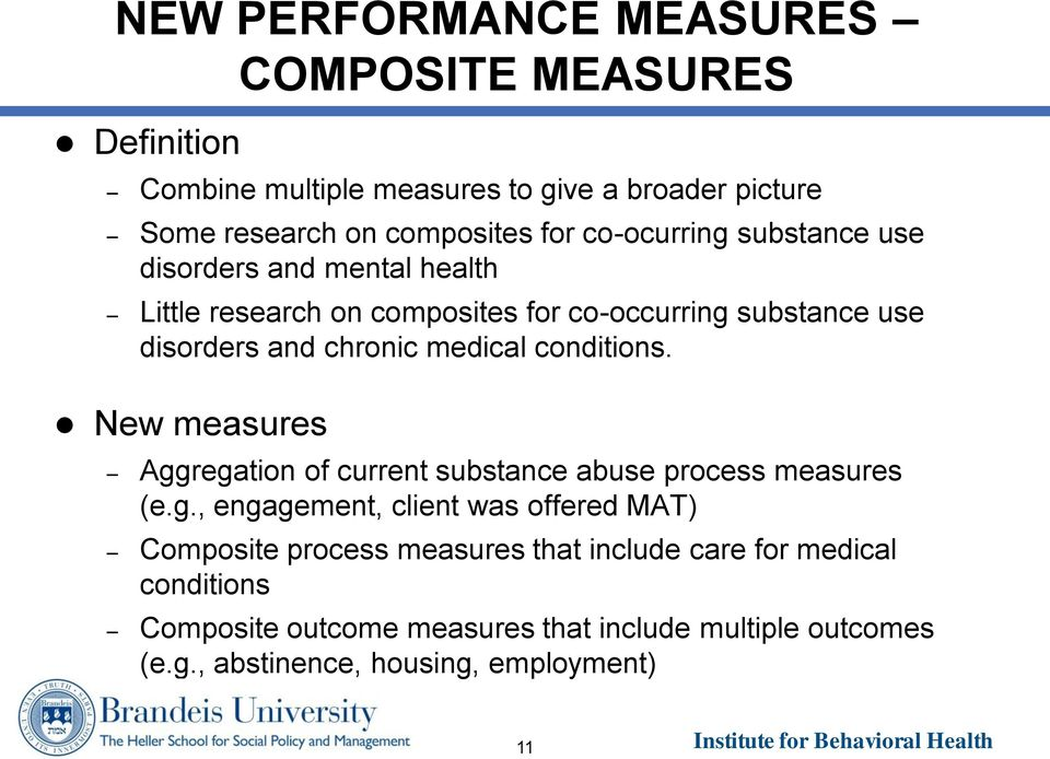 medical conditions. New measures Agg