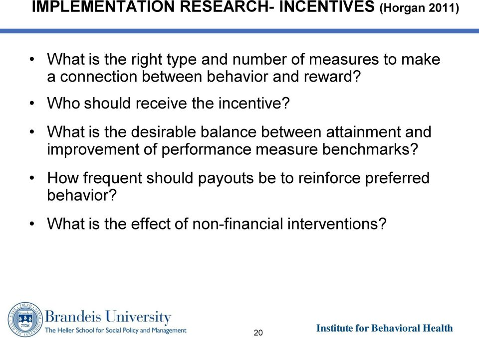 What is the desirable balance between attainment and improvement of performance measure benchmarks?