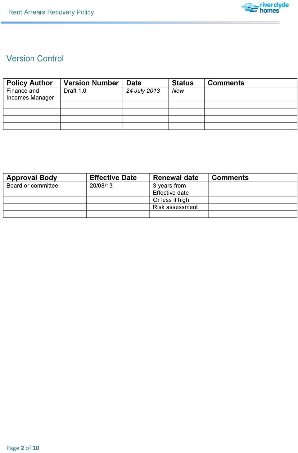 0 24 July 2013 New Approval Body Effective Date Renewal date