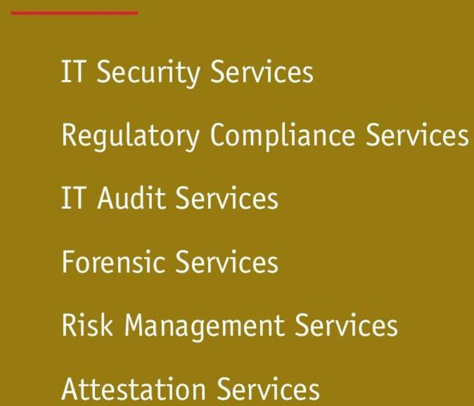 Services Forensic Services Risk