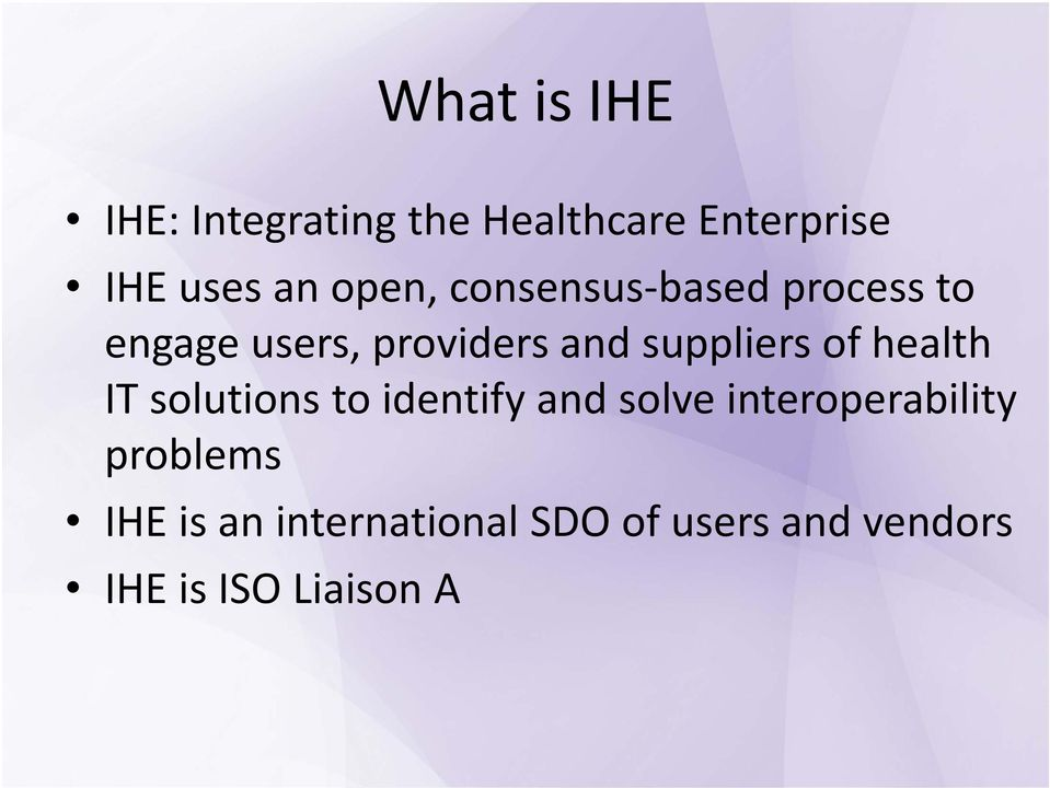 suppliers of health IT solutions to identify and solve