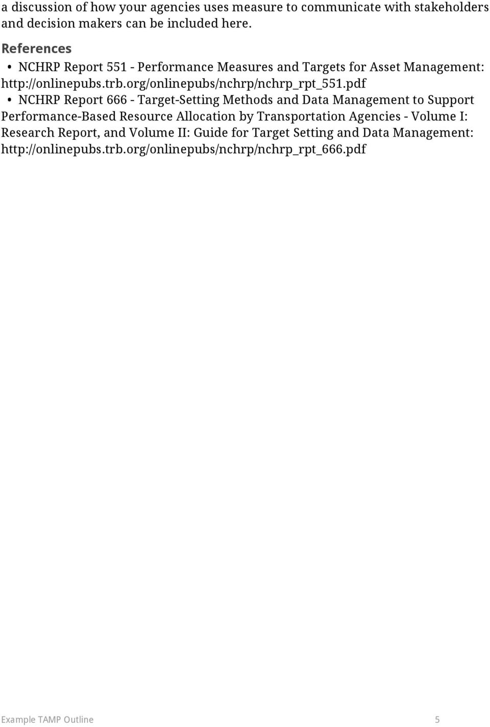pdf NCHRP Report 666 - Target-Setting Methods and Data Management to Support Performance-Based Resource Allocation by Transportation Agencies -