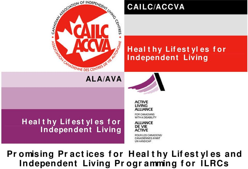 Independent Living Promising Practices for