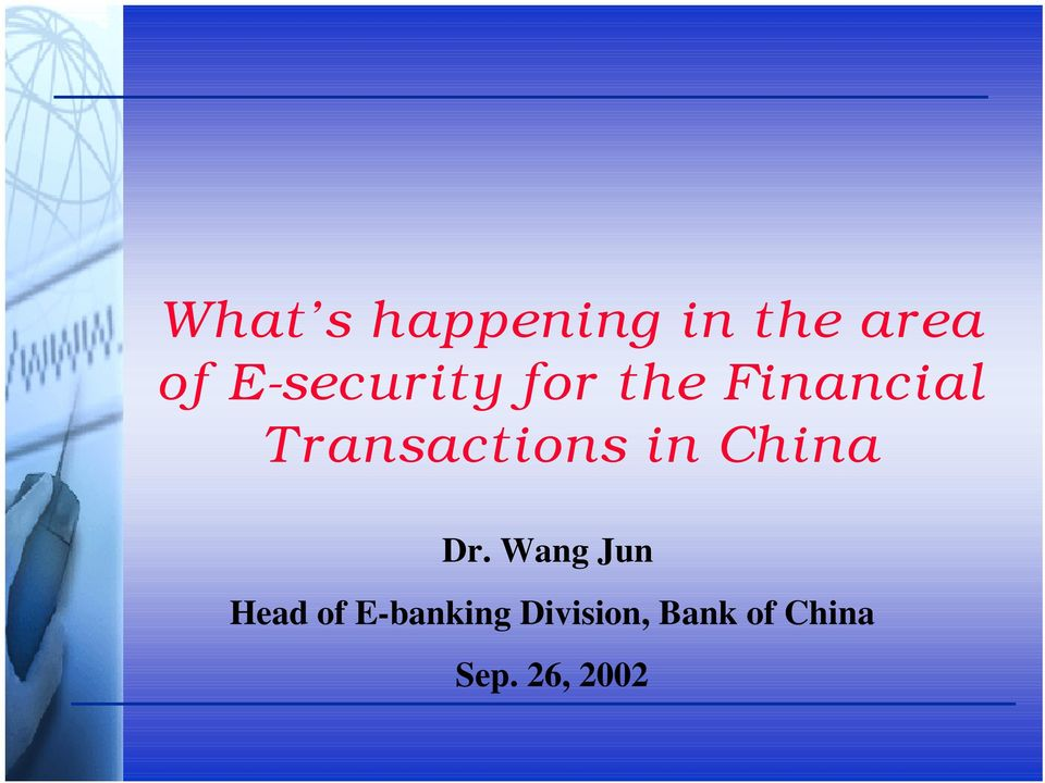 Transactions in China Dr.