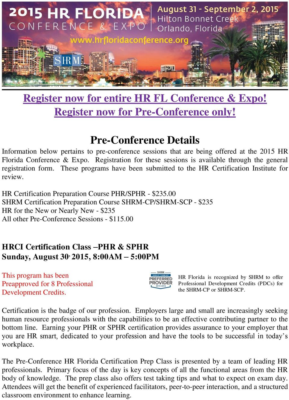 Register Now For Entire Hr Fl Conference Expo Register Now For