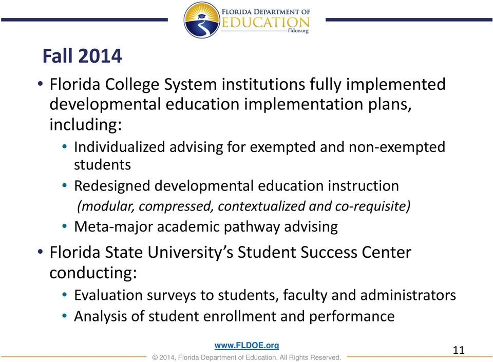 compressed, contextualized and co requisite) Meta major academic pathway advising Florida State University s Student