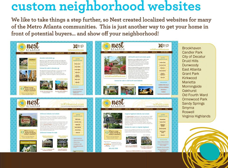 This is just another way to get your home in front of potential buyers and show off your neighborhood!