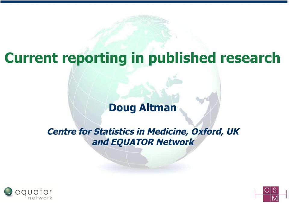 Altman Centre for Statistics