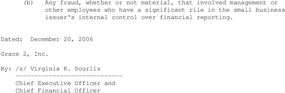 internal control over financial reporting.