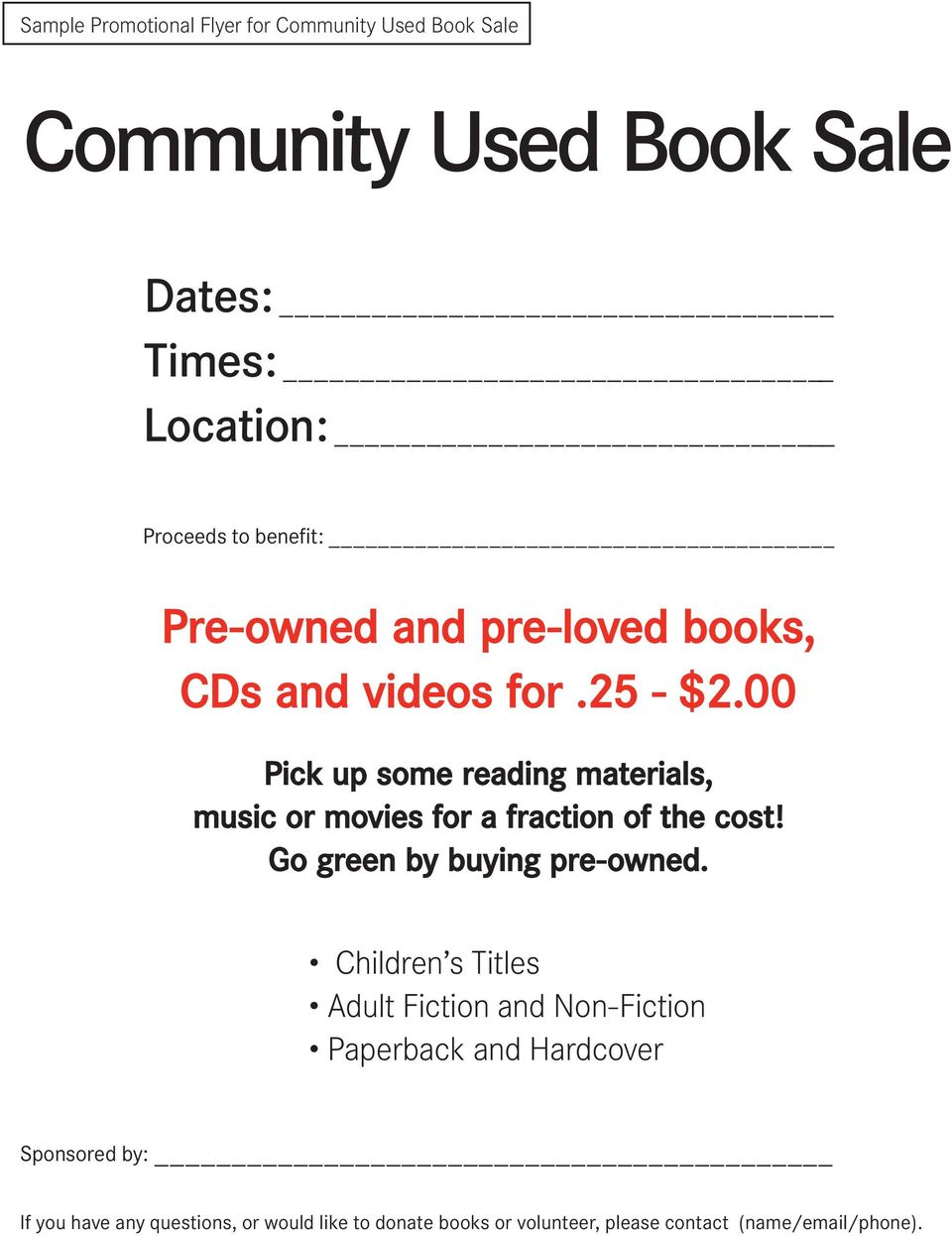 00 Pick up some reading materials, music or movies for a fraction of the cost! Go green by buying pre-owned.