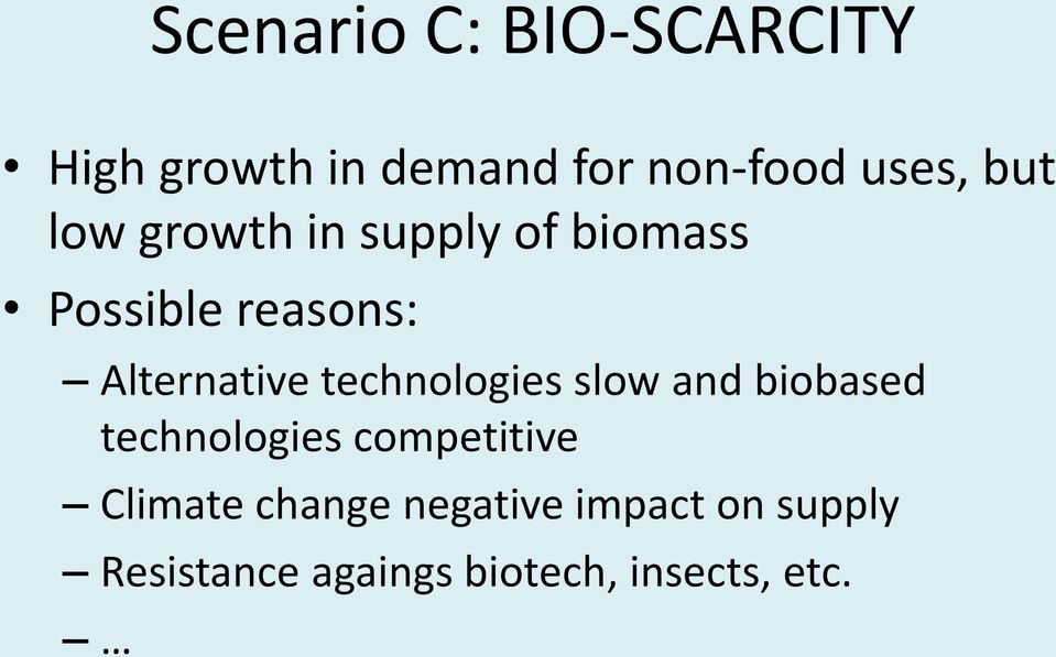 technologies slow and biobased technologies competitive Climate