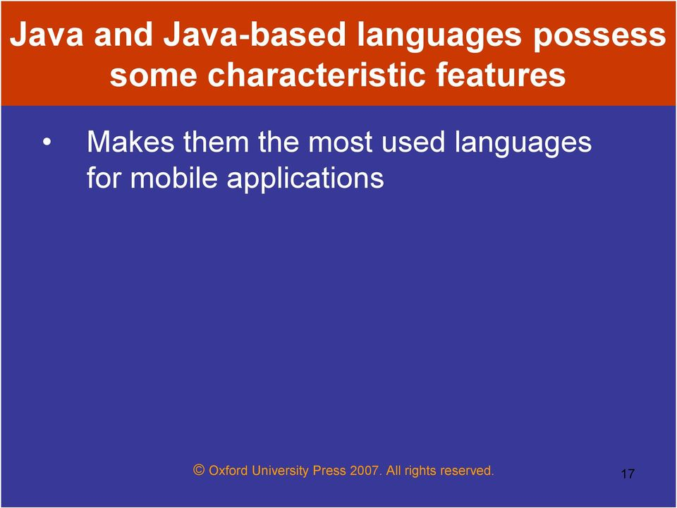 used languages for mobile applications