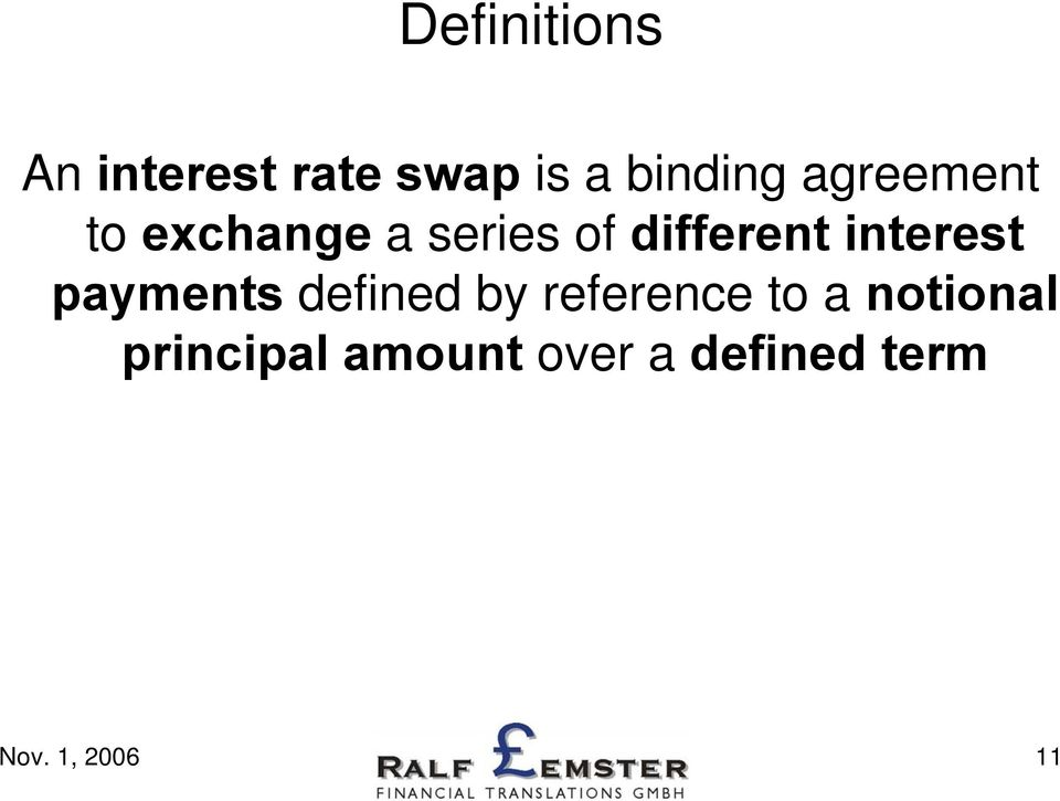 interest payments defined by reference to a