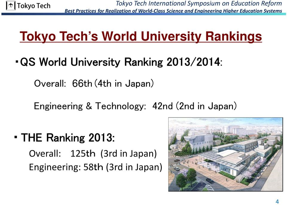 Engineering & Technology: 42nd (2nd in Japan) THE Ranking