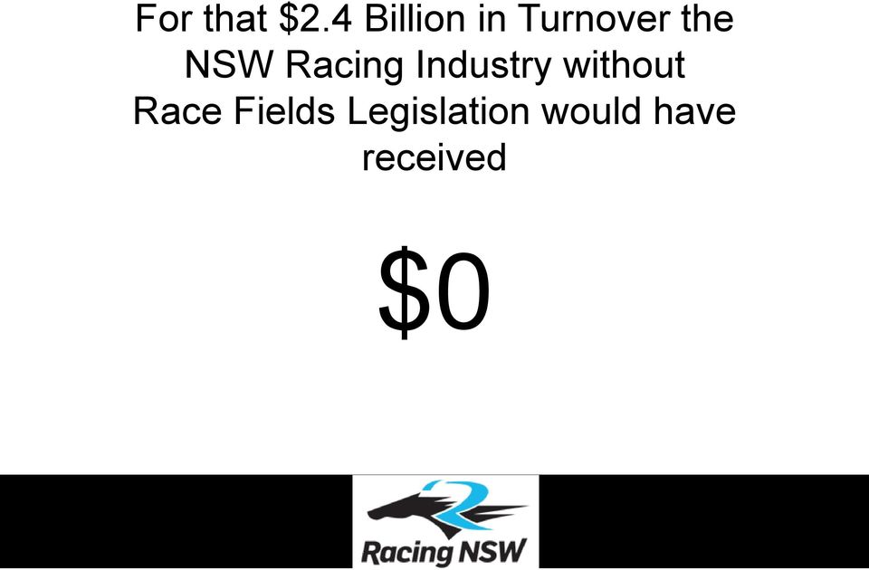 NSW Racing Industry without