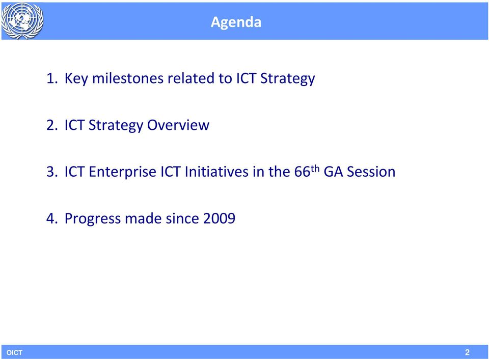 ICT Strategy Overview 3.