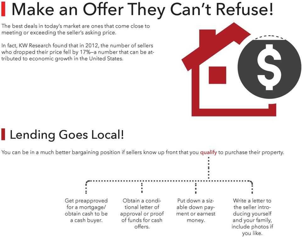 Lending Goes Local! You can be in a much better bargaining position if sellers know up front that you qualify to purchase their property.