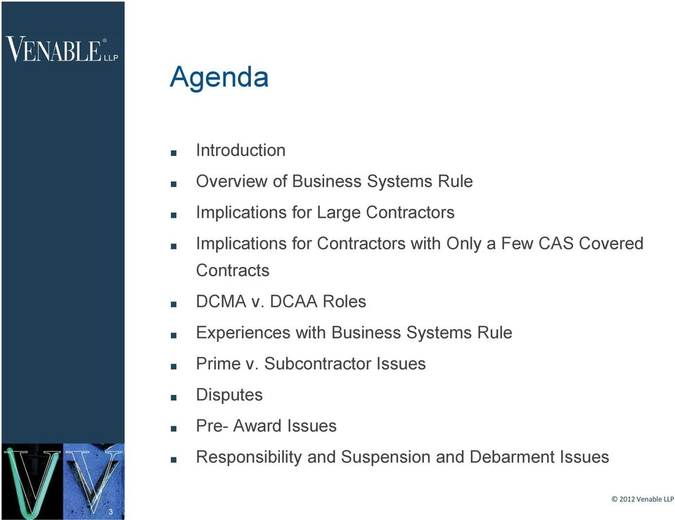 v. DCAA Roles Experiences with Business Systems Rule Prime v.