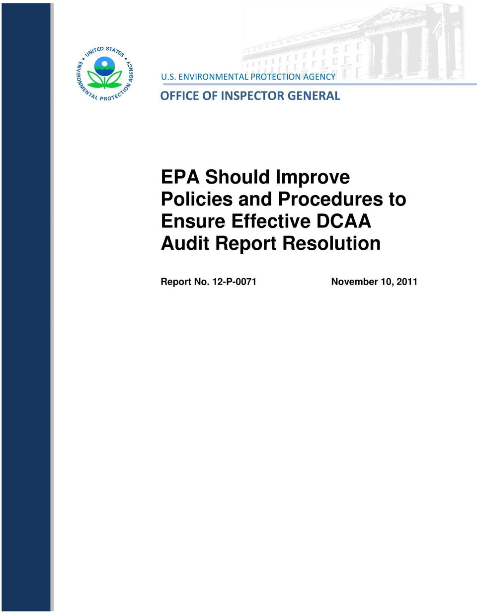 and Procedures to Ensure Effective DCAA Audit