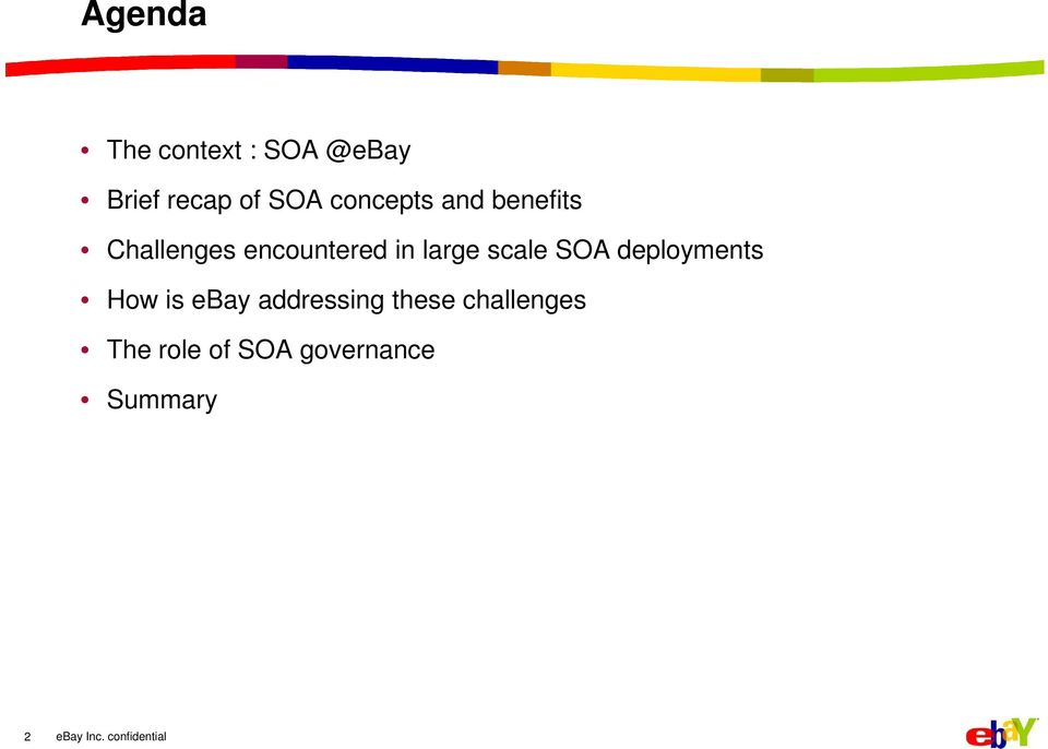large scale SOA deployments How is ebay addressing