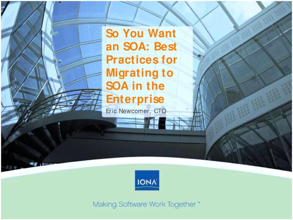 Migrating to SOA in