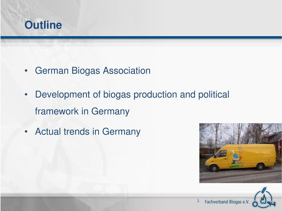 biogas production and political