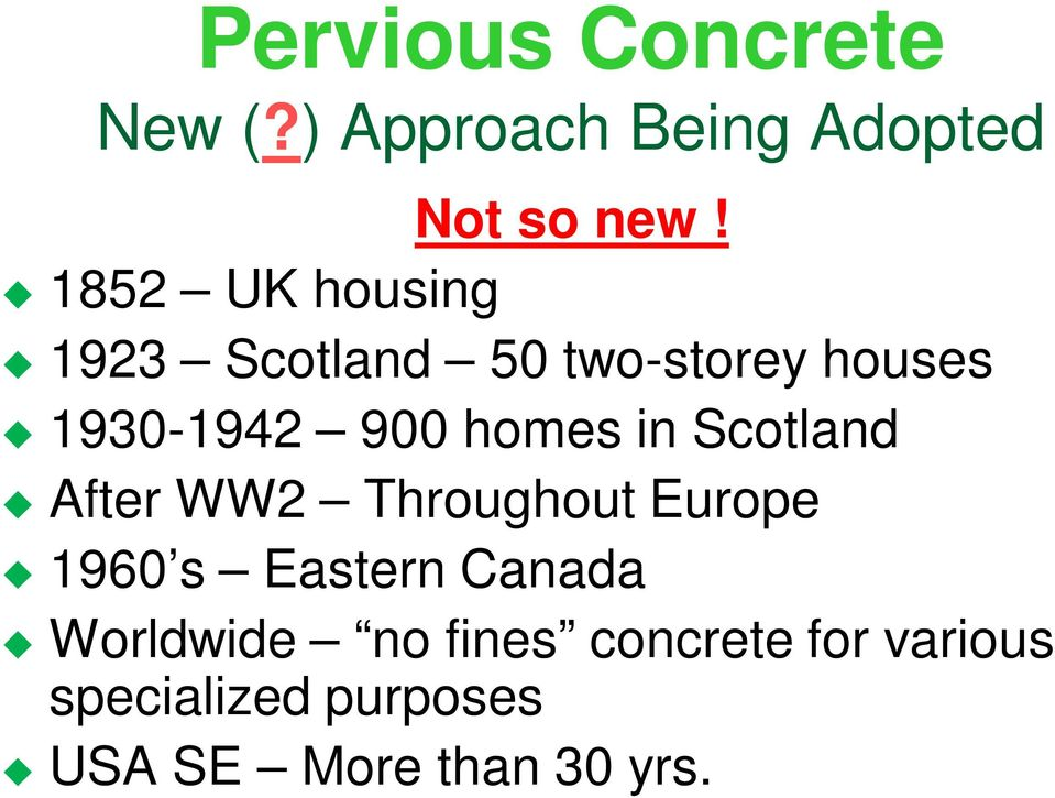 homes in Scotland After WW2 Throughout Europe 1960 s Eastern Canada