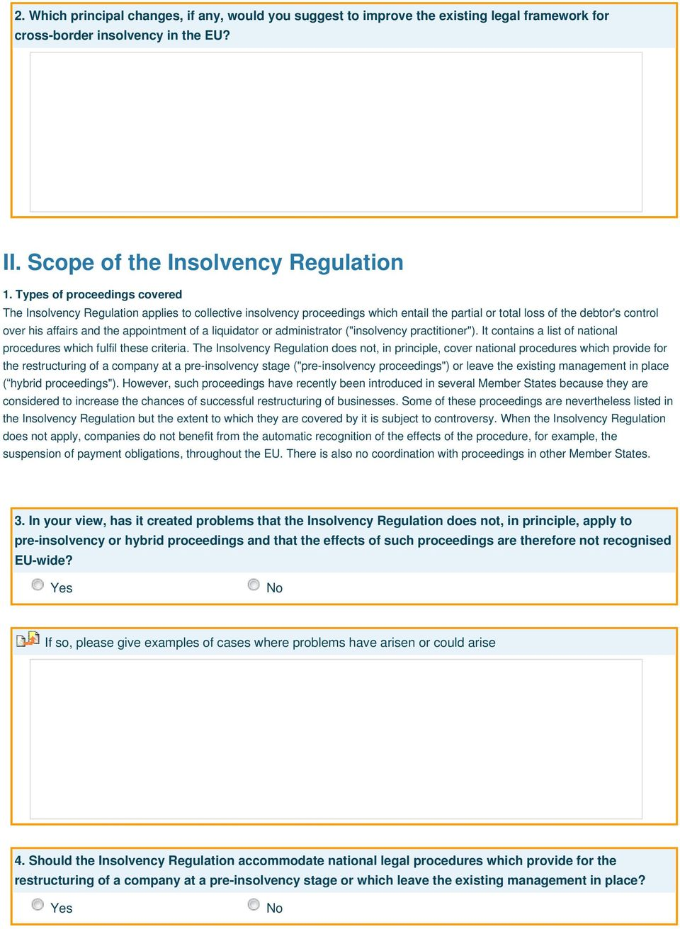 "of a liquidator or administrator (""insolvency practitioner""). It contains a list of national procedures which fulfil these criteria."