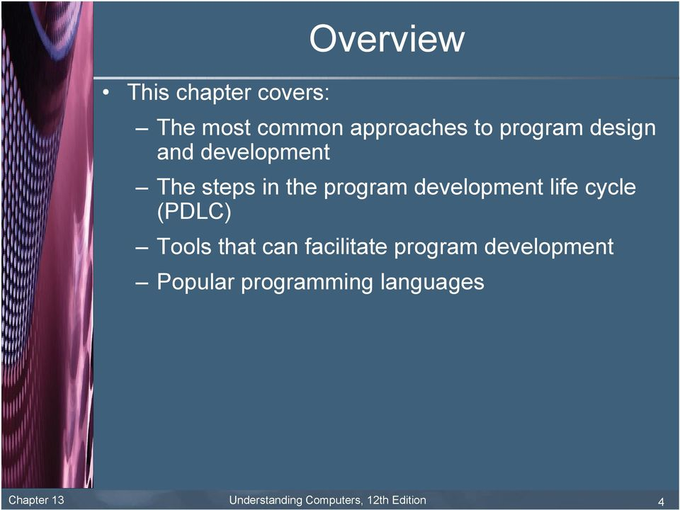 cycle (PDLC) Tools that can facilitate program development Popular